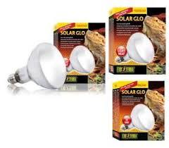 uva and uvb light exo terra solar glo reptile heat l uva uvb light all in 1 bulb
