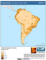 Maps South America by Maps Population Density Grid V3 Sedac