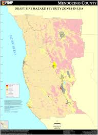 map ukiah cal mendocino county fhsz map