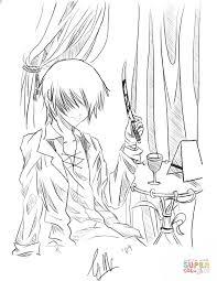 anime boy reixjune coloring free printable coloring