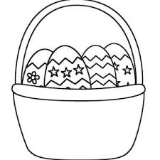easter basket with eggs coloring page rabbit and standing beside easter basket coloring page