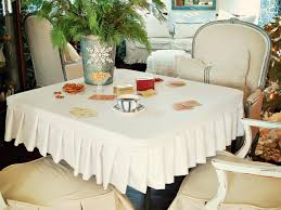 how to sew a card table slipcover hgtv