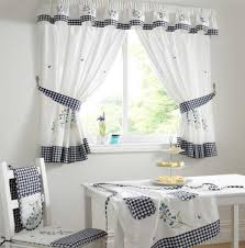Gray Kitchen Curtains by White Kitchen Curtains Home Design Ideas And Pictures
