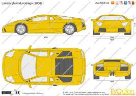 lamborghini gallardo blueprint the blueprints com vector drawing lamborghini murcielago
