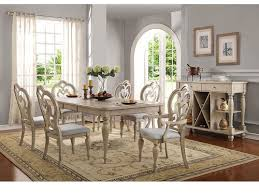 Antique White Dining Room Furniture Abelin Antique White Dining Table Set