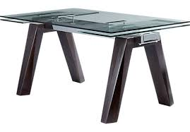 Table Glass Top Espresso Rectangle Dining Table Glass Top Contemporary