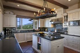 kitchen elegant white interior country style kitchen design with