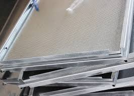Decorational Nrc 0 65 Acoustic Ceiling Tiles Perforated E Shaped