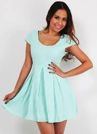 fashion trends scoop neck sleeveless knee length lace mint green