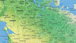 map of kazan vector map russia political with shaded relief one stop map