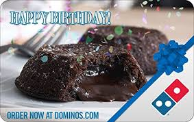 dominos pizza birthday gift cards e mail delivery