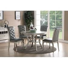 Grey Kitchen  Dining Tables Youll Love Wayfair - Grey dining room sets
