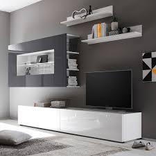 Wohnzimmerschrank Lack Wohnwand Weia Hochglanz Tolle Grau Wohnzimmer Kostlich Weis