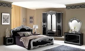 classy silver bedding sets combined in black palette in luxurious
