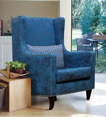Blue Velvet Accent Chair Blue Velvet Accent Chair Blue Wingback Chair U2013 Laluz Nyc Home Design