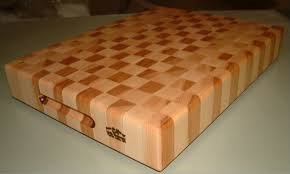 hard maple cutting boards built from heartwood and sapwood hard maple patterned to give it a checkered look juice groove can be added to this block standard finish applied