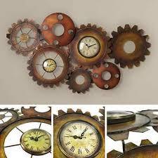 Vintage Antique Home Decor Vintage Wall Clocks Auriol Vintage Wall Clock Monday Lidl Uk