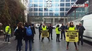 siege edf greenpeace bloque le siège d edf à en vidéos sur actu orange fr
