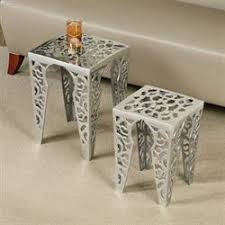 Aluminum Accent Table Clearance Furniture Touch Of Class