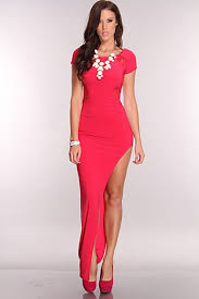 sexi maxi dress fuchsia floral lace detail maxi dress