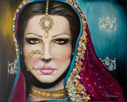 vallenssia fine art paintings on canvas indian bride