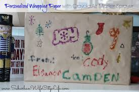 personalized wrapping paper and cards with crayola air marker