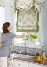 custom made kitchen curtains horizons fabric roman shades custom made from our material or