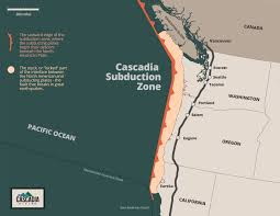 Map Of California And Oregon by Map Of The Cascadia Subduction Zone Fema Gov