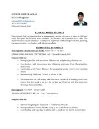 Civil Engineering Resumes Nithesh Civil Engineer Resume 1