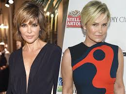 yolanda foster hair color real housewives of beverly hills yolanda foster lisa rinna right