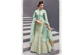 pista colour buy peach color georgette party wear lehenga choli 2 in 1 style in