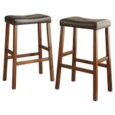 bar stools scottsdale weston home scottsdale saddle bar stool cherry set of 2 hayneedle