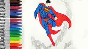 superman flying into the sky coloring pages man of steel sailany