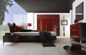 interior interactive picture of modern red black and white