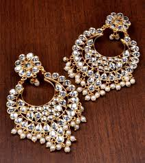 dangler earrings buy kundan embellished dangler earrings 217ed82 online