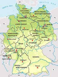 map of germany with states and capitals states of the federal republic of germany