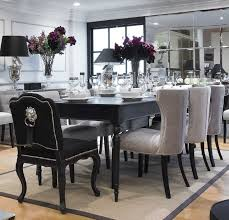 Creative Creative Black Dining Room Chairs Best  Black Round - Black dining table for 10