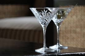martinis martini waterford crystal huntley crystal martinis pair
