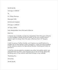 resignation letter sample resignation letter effective