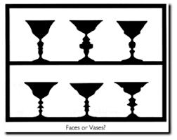 Vase Faces Illusion Postcard Exhibits Exploratorium Exhibits Young Women Or Old