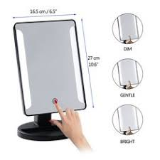makeup mirror 10x magnification with light amazon com leshp magnifying lighted makeup mirror wireless