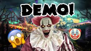 thrashing clown spirit halloween creepy towering clown demo youtube