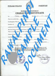 clearance certificate sample police clearance certificate from rawalpindi sample police