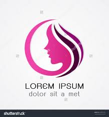 logo woman silhouette head face isolated use for beauty save to a
