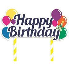 happy birthday cake topper artwrap happy birthday cake topper big w