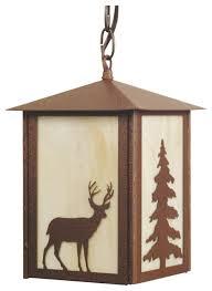 Elk Pendant Lights Elk And Tree Outdoor Pendant Light Rustic Outdoor Hanging