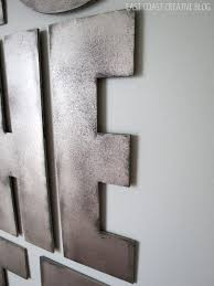 metal letters industrial metal letters faux painting infarrantly creative