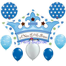 baby boy balloons crown balloon its a boy balloon package blue