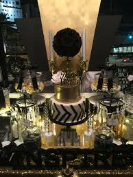 black white and gold candy buffet with a glamorous 2 tier fondant