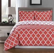 Perry Ellis Asian Lilly 3 Piece Mini Duvet Cover Set Coral Duvet Cover Set U2013 Ease Bedding With Style
